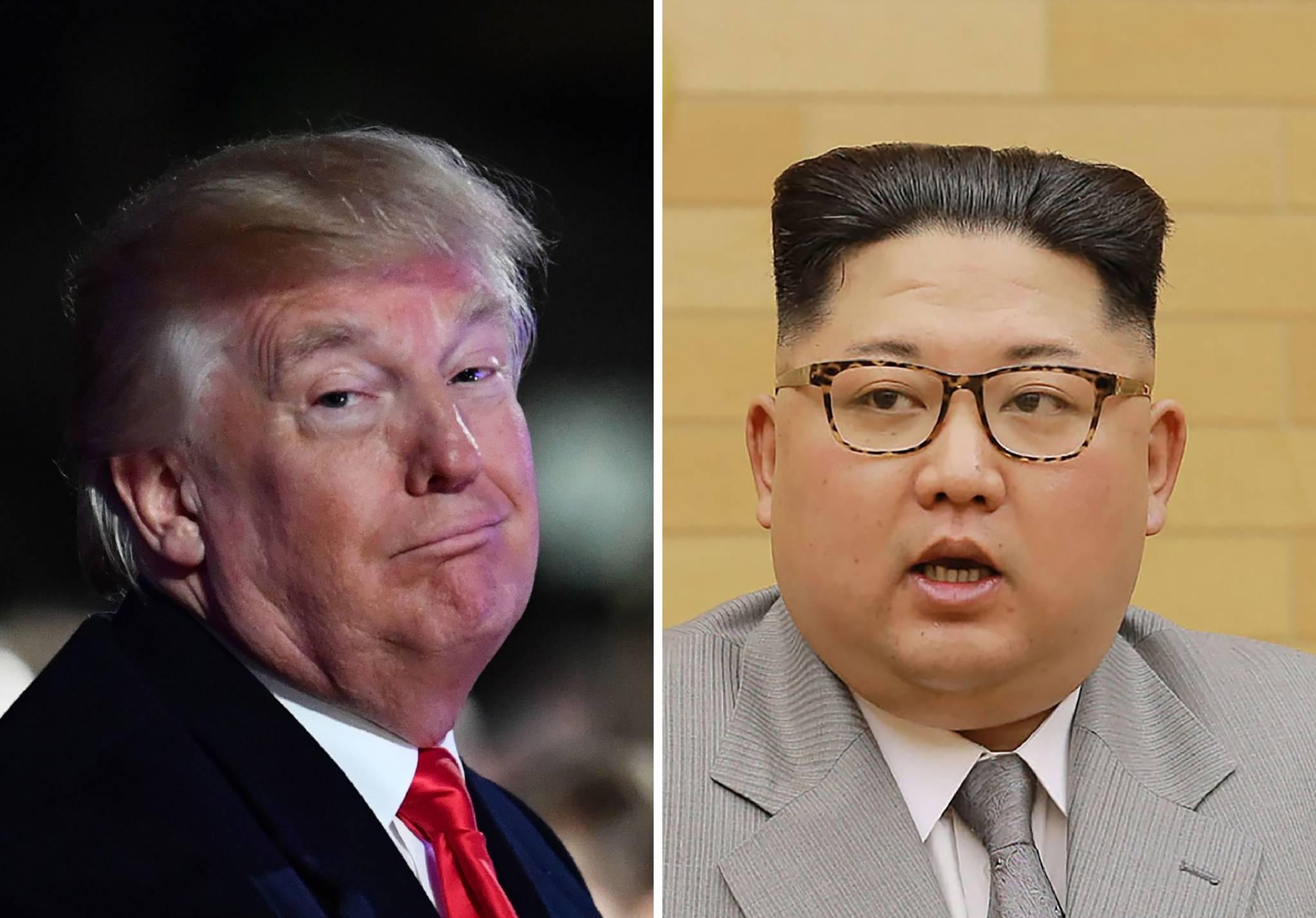 도널드 트럼프 미 대통령이 14일(현지시간) 북한 김정은과의 관계에 대한 월스트리트저널의 보도가 잘못되었다며 자신의 트위터에 올린 글을 AFP가 보도하며 붙여 만든 사진.[AFP=연합뉴스]