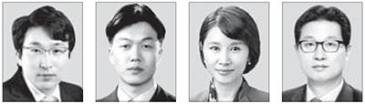 왼쪽부터 홍동우, 김동일, 김선아, 김용태.