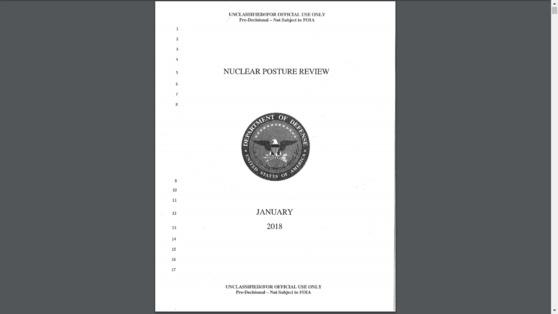미국 국방부가 작성한 2018년 핵태세보고서 초안
