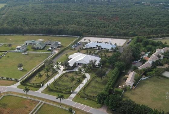 스티븐 잡스의 부인 로렌 잡스가 2016년 구입한 플로리다주 웰링턴의 목장 전경.