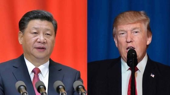 도널드 트럼프 미국 대통령(왼쪽)과 시진핑 중국 국가주석.