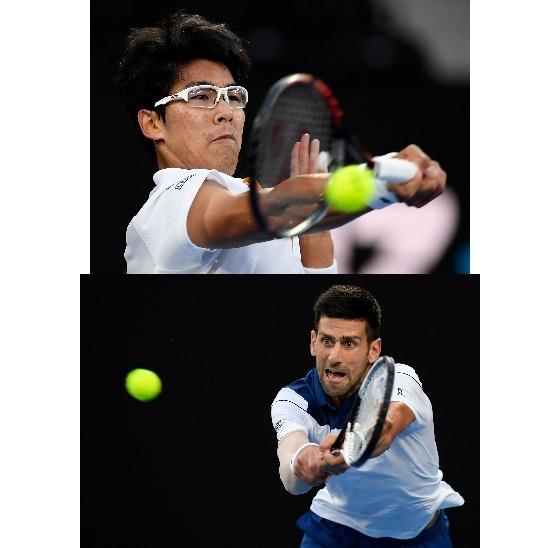 정현이 22일 열린 호주오픈 테니스대회 남자 단식 16강에서 노박 조코비치에 접전 끝에 1세트를 따냈다.[멜버른 AP=연합뉴스]