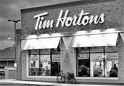 커피와 도넛 등을 판매하는 캐나다 최대 프랜차이즈 팀 호턴스의 매장 외부 모습. [중앙포토]
