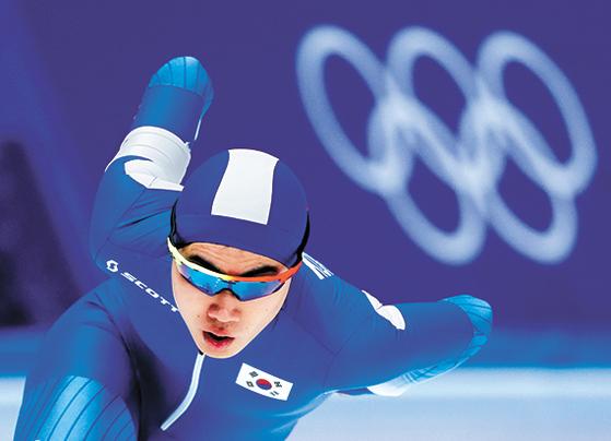19세 '빙속 괴물' 김민석이 13일 남자 1500m에서 동메달을 따냈다. 아시아 선수가 겨울올림픽 1500m에서 메달을 딴 것은 김민석이 처음이다. [AP=연합뉴스]