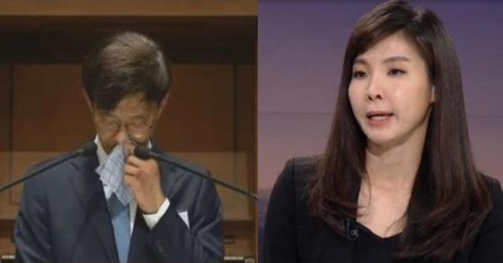 안태근 전 검찰국장(왼쪽)과 서지현 검사(오른쪽).