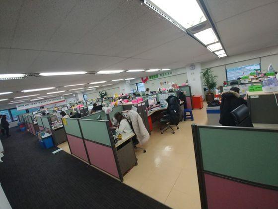 13일 찾은 SK텔레콤 고객센터. 권유진 기자