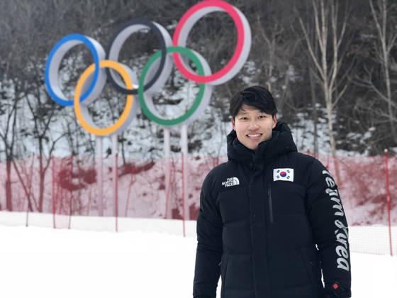 한국 알파인스키 기대주 김동우. 평창올림픽 활강에서 48위를 기록했다. [연합뉴스]