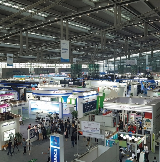 중국의 대표적인 전시회 중 하나인 '중국하이테크페어'는 중국의 실리콘밸리인 심천(선전)에서 매년 11월 개최되는 중국 국가급 전시회다. 2017년 3094개사가 참가하고 59만여 명이 방문했다.