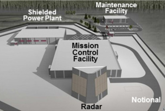 알래스카에 설치할 장거리 식별 레이더(LRDR) 개념도. [자료 MDA]