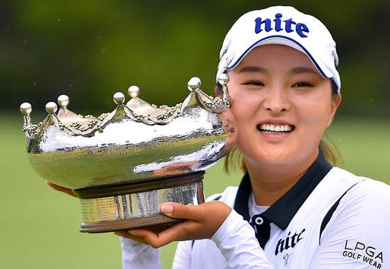LPGA 투어에서 67년만에 데뷔전에서 우승한 신인 고진영. [로이터=연합뉴스]
