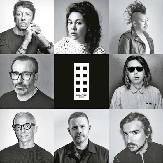 '몽클레르 지니어스'를 통해 각각의 개성대로 독창적인 8개의 라인을 선보일 8명의 디자이너.