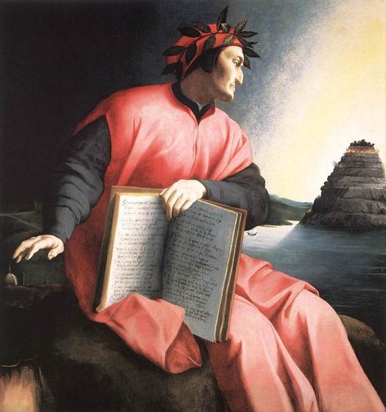 고향 피렌체에서 추방 당한 단테를 그린 브론치노(AgnoloBronzino)의 1530년 작품. [중앙포토]