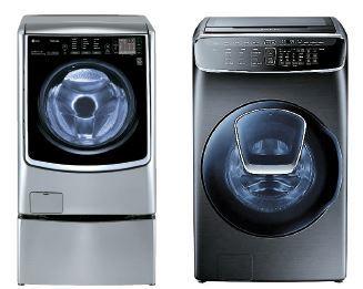 NBCI 공동 1위 LG 트롬과 삼성은 트윈워시(왼쪽 사진)와 플렉스워시로 시장을 선도했다.