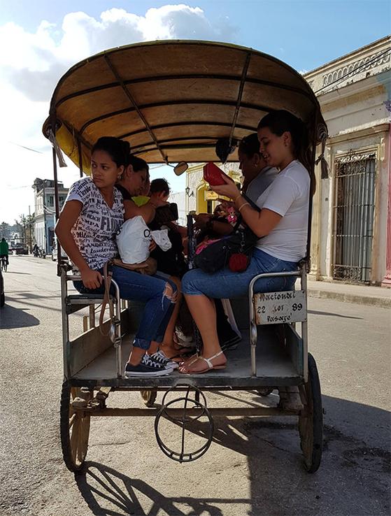 2011년 민간에 택시·민박 등 소규모 자영업을 허용하면서 쿠바엔 다양한 택시가 영업 중이다. 사진은 마차.