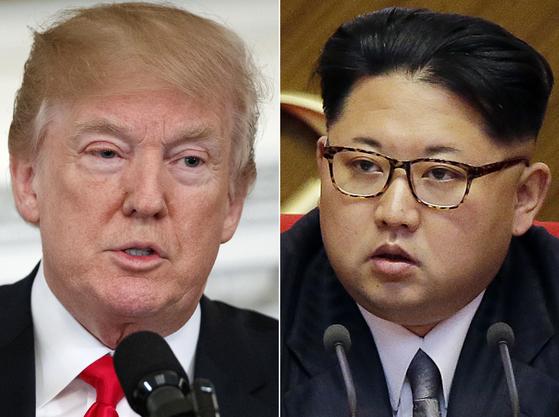 도널드 트럼프 미국 대통령과 김정은 북한 노동당 위원장. [연합뉴스]