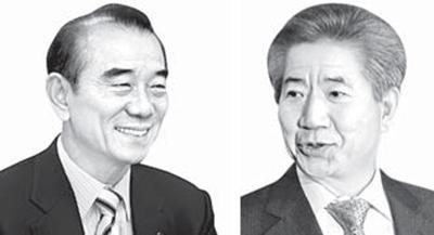 이철 전 의원(左), 노무현 전 대통령(右)
