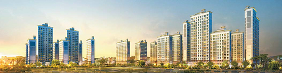 단지 안 1만 그루의 편백나무 숲이 조성될 예정인 서울대입구역 힐링스테이트 투시도.