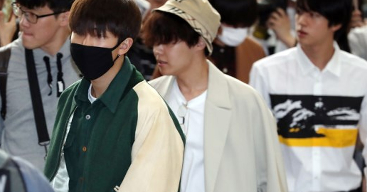 BTS at airport [Ilgan Sports]