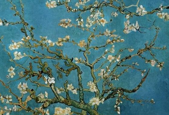 반 고흐, '꽃피는 아몬드 나무', 캔버스에 유채, 1890