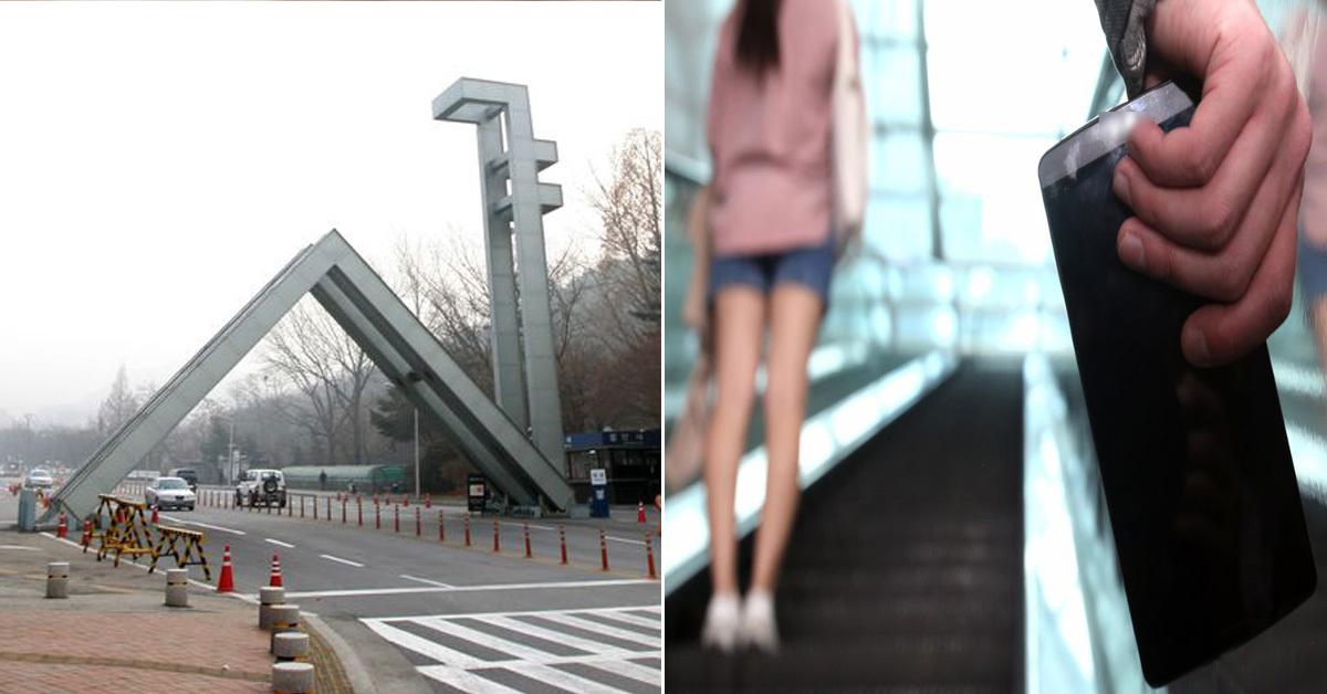 서울대에 다니는 20대 남성이 지하철 역에서 휴대전화로 여성의 신체를 몰래 촬영하려다가 경찰에 붙잡혔다. (사진은 기사와 관련 없는 이미지 사진) [중앙포토]
