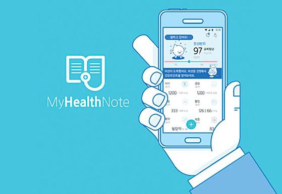 당뇨가 있는 고객을 위한 마이헬스노트는 입력된 고객의 건강기록을 바탕으로 강북삼성병원 당뇨전문센터의 자문 아래 맞춤상담 서비스 를 제공하는 앱이다. [삼성화재]