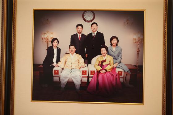 가족사진. 송봉근 기자