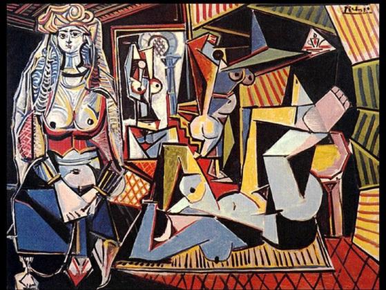 피카소의 알제의 여인들. 1955