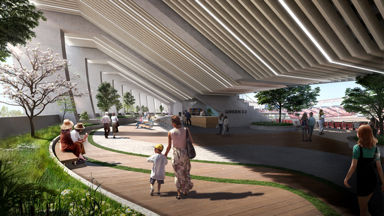 리모델링될 잠실주경기장 3층엔 산책로가 조성된다.[사진 서울시]