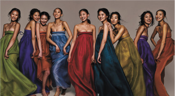 이영희 한복디자이너가 94년 파리 패션쇼에서 선보인 '바람의 옷'