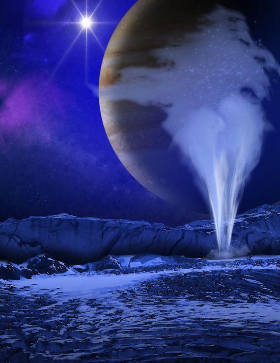 유로파 물기둥 컨셉 이미지. [사진 NASA]