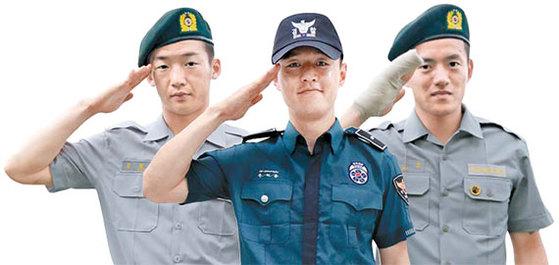 왼쪽부터 김민우, 주세종, 홍철.