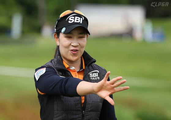 박인비와 결승에서 겨룬 김아림. [KLPGA/박준석]