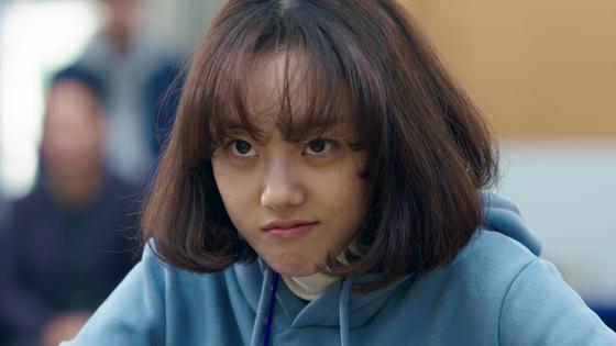 영화 '오목소녀'에서 이바둑 역을 맡은 배우 박세완. 기자간담회에서 실제 자신과 영화 속 바둑이 닮은점이 많다고 말했다. [사진 인디스토리 제공]