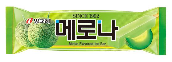 이른 더위가 이어지고 있는 5월.편의점 3사에서 가장 많이 팔린 아이스크림은 '메로나'로 조사됐다. [사진 빙그레]