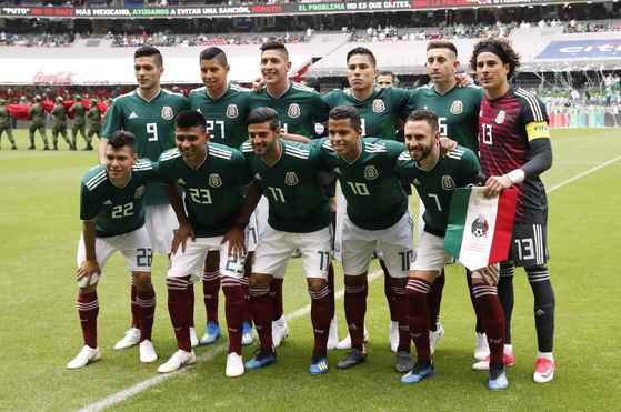 멕시코 축구대표팀. [로이터=연합뉴스]