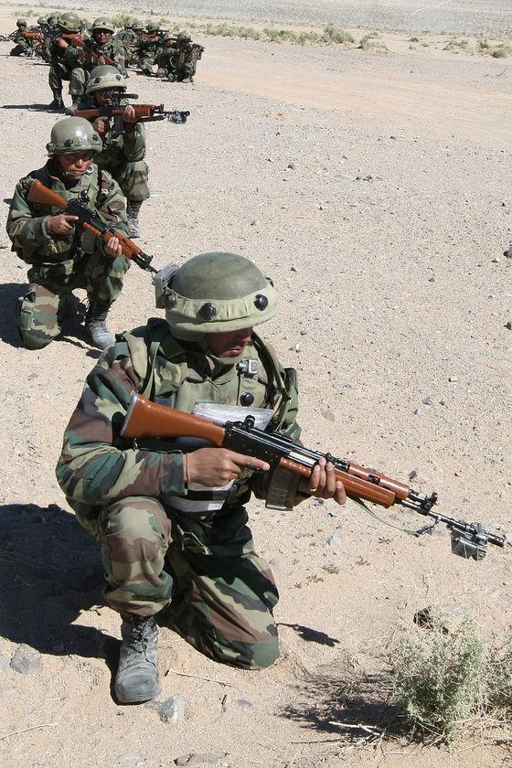인도군 소속 구르카족 병사들의 훈련 모습. [위키피디아]