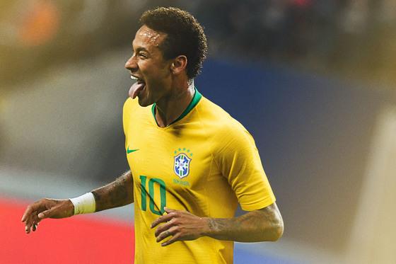 네이마르가 입은 브라질 유니폼. [사진 나이키]