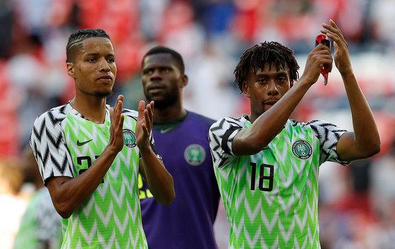 러시아 월드컵을 앞두고 큰 인기를 모은 나이지리아 유니폼. [로이터=연합뉴스]