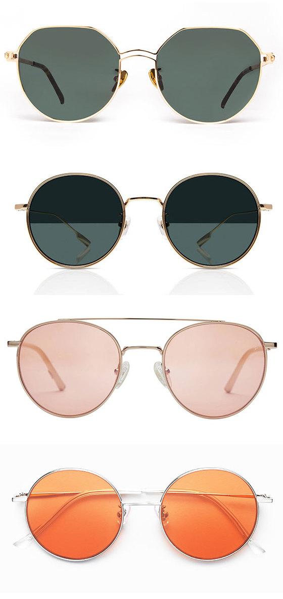 'K-선글라스'의 인기를 주도하고 있는 브랜드의 선글라스. 사진 위부터 스프링스트링스, 라피스 센시블레, 카린, 젠틀몬스터. [사진 각 업체]