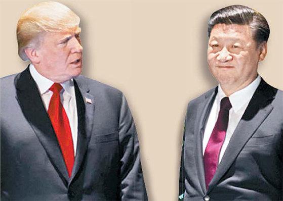 도널트 트럼프 미 대통령과 시진핑 중국 국가주석. [중앙포토]