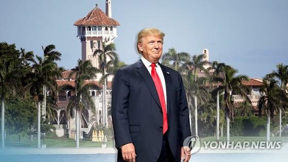 대통령 취임 이후 플로리다주 팜비치의 마라라고 리조트에서 6주간  휴가를 보낸 도널드 트럼프 미국 대통령. [연합뉴스]
