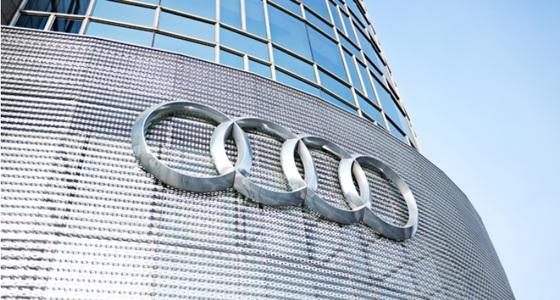 네 개의 반지가 겹쳐있는 아우디의 로고(엠블럼).아우디(Audi)ㆍ반더러(Wanderer)ㆍ호르히(Horch)ㆍ데카베(DKW) 네 회사의 합병을 상징한다. [사진 아우디]