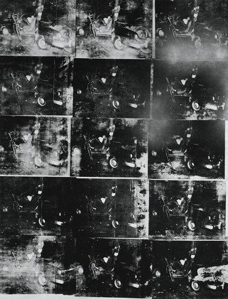 앤디워홀 <은색 차 충돌>, 1963
