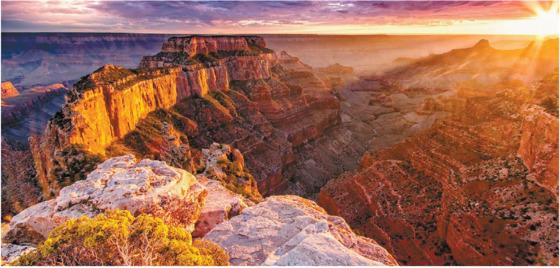 그랜드캐니언. 18억4000만 년 전에서 2억7000만 년 전까지의 지층을 모두 볼 수 있는 아름다운 협곡이다. 창조과학자들은 이 협곡이 기원전 2304±11년에 221일 동안 만들어졌다고 주장한다.