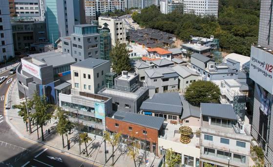'돈의문 박물관마을'로 재단장한 모습.