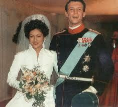 덴마크 요아임 왕자와 첫 부인 알렉산드라의 결혼식.홍콩에서 자란 알렉산드라는 중국 혈통이 섞여 있으며 중국 이름(文雅麗)도 있다.