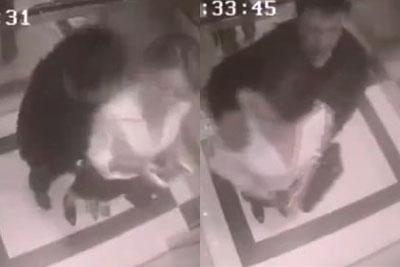 엘리베이터 성추행남 니킥으로 제압한 여성 '화제!'