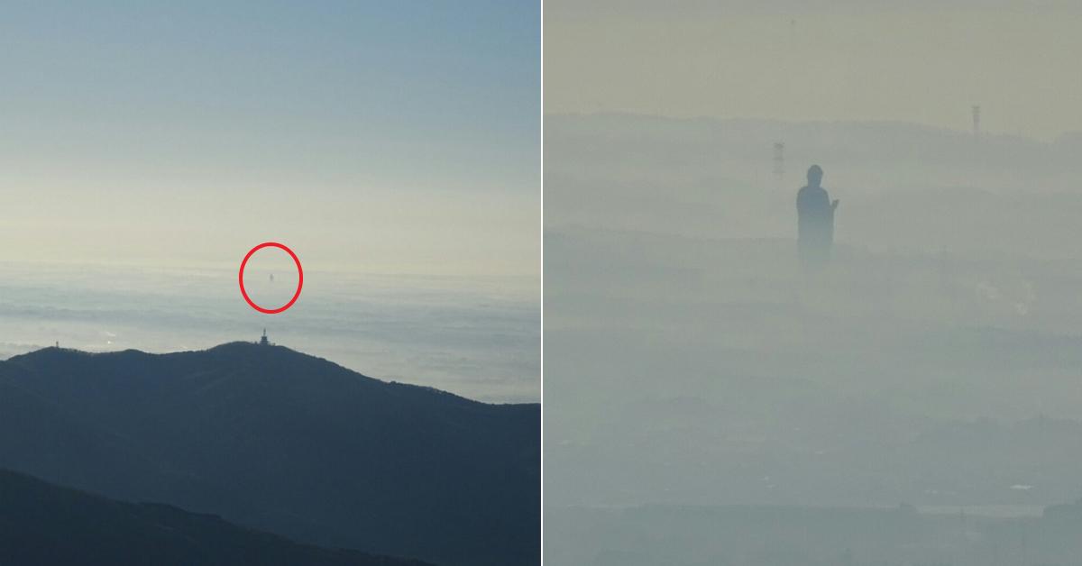 일본서 발견된 구름 위에 서있는 '신비로운 사람 형상'