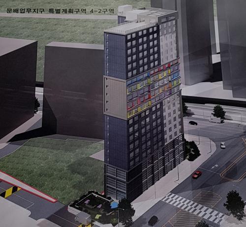 용산 삼각지고가 옆 문배업무지구에 20층 규모 건물 들어선다
