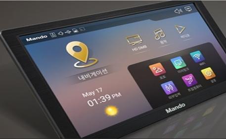 고화질(HD) DMB 시청 가능한 안드로이드 내비게이션, 만도 'AF100'